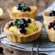 Tart with lemon cream — Stock Photo