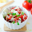 Salad of tomatoes , cheese and watercress — Stock Photo #22959248