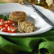 Stock Photo: Eggplant Cutlets from liver