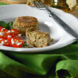 Eggplant Cutlets from liver — Stock Photo