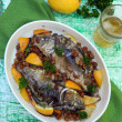 Fish with orange marinade — Stock Photo