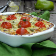 Stock Photo: Greek pie with fetand zucchini