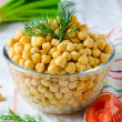 Boiled chickpeas — Photo