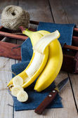 Sliced banana — Stock Photo