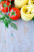 Vegetable and pasta — Stock Photo