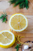 Lemon and rosemary — Stock Photo