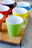 The colored cups — Stock Photo