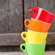 colored cups — Stock Photo #23966877