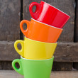colored cups — Stock Photo #23966895