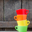 colored cups — Stock Photo #23966981