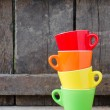 Stock Photo: colored cups