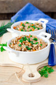 Buckwheat stewed — Stock Photo