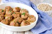 Meatballs with barley — Stock Photo