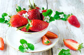 Strawberries in a cup — Stock Photo