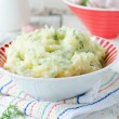 Mashed potatoes or baked with garlic — Stock Photo #29344987