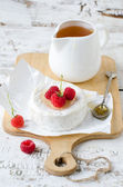 Brie cheese with honey — Stok fotoğraf