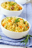 Cous cous with pumpkin — Stock Photo
