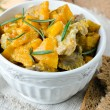 Meat stew with pumpkin — Stockfoto