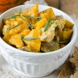 Meat stew with pumpkin — Stock Photo