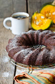 南瓜的巧克力蛋糕 — 图库照片