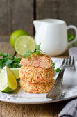 Cutlets of crab meat — Stock Photo