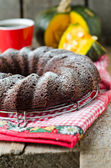 čokoládový koláč dýně — Stock fotografie