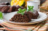 Chocolate Pumpkin Cake — Stock Photo