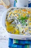 Baked Zucchini and Cheese — Stock Photo