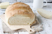 Homemade round bread — Stock Photo
