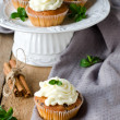 Cupcakes with cream cheese — Stok fotoğraf