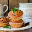 Muffins with chocolate drops — Stock Photo #35756819