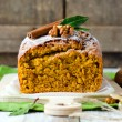 Cake with nuts and spices — Stock Photo