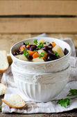 Thick soup with beans — Stock Photo