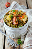 Mung beans stewed with vegetables — Zdjęcie stockowe