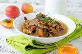 Lamb stew with apricots — Stock Photo