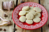 Walnut cookies on a plate — Stock Photo
