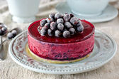 Berry cheesecake on a plate — Stock Photo