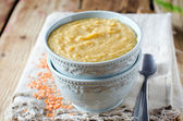 Puree soup of lentils and vegetables — Stock Photo