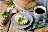 Homemade bread and butter — Stock Photo