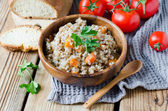 Buckwheat with vegetables — Stock Photo