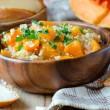 Pumpkin stew with rice and meat — Stock Photo #40408091