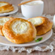 Buns with cottage cheese — Stock Photo