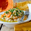 Pumpkin stew with rice and meat — Stock Photo #40556155