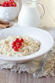 Milk porridge with berries — Stock Photo