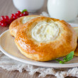Stock Photo: Buns with cottage cheese