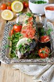 Makrela w sosie pomidorowym — Zdjęcie stockowe