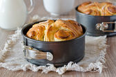 Brioche with cheese — Stock Photo