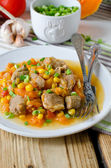 Curry with pumpkin and corn — Stockfoto