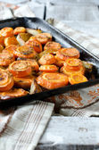 Carrots baked with onions — Stock fotografie
