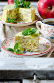 Cheesecake with poppy seeds and apples — Stock Photo